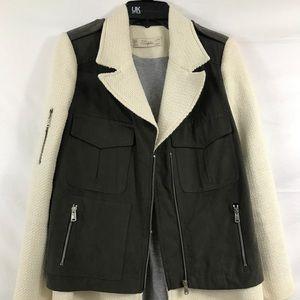 Zara Trafaluc Weave Textured Jacket Coat